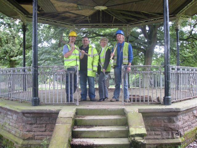 The work starts on the Queens Park bandstand